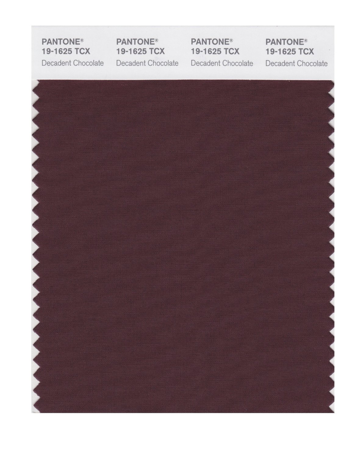 Pantone Smart Swatch 19-1625 Decadnt Chocolat