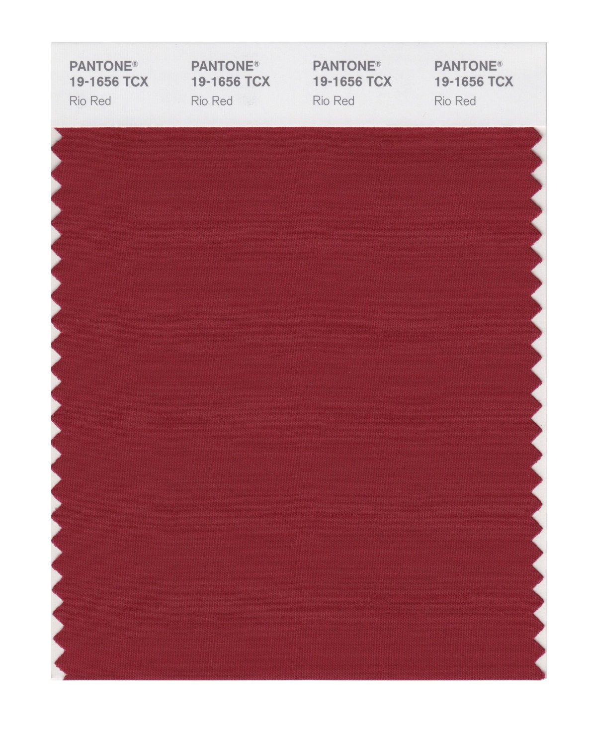 Pantone Smart Swatch 19-1656 Rio Red