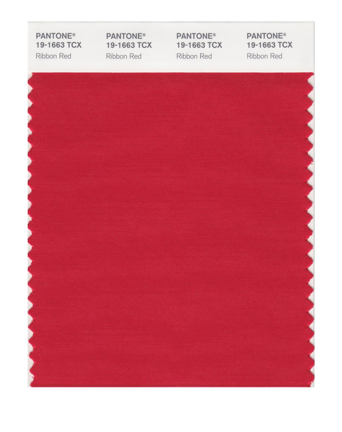Pantone Smart Swatch 19-1663 Ribbon Red