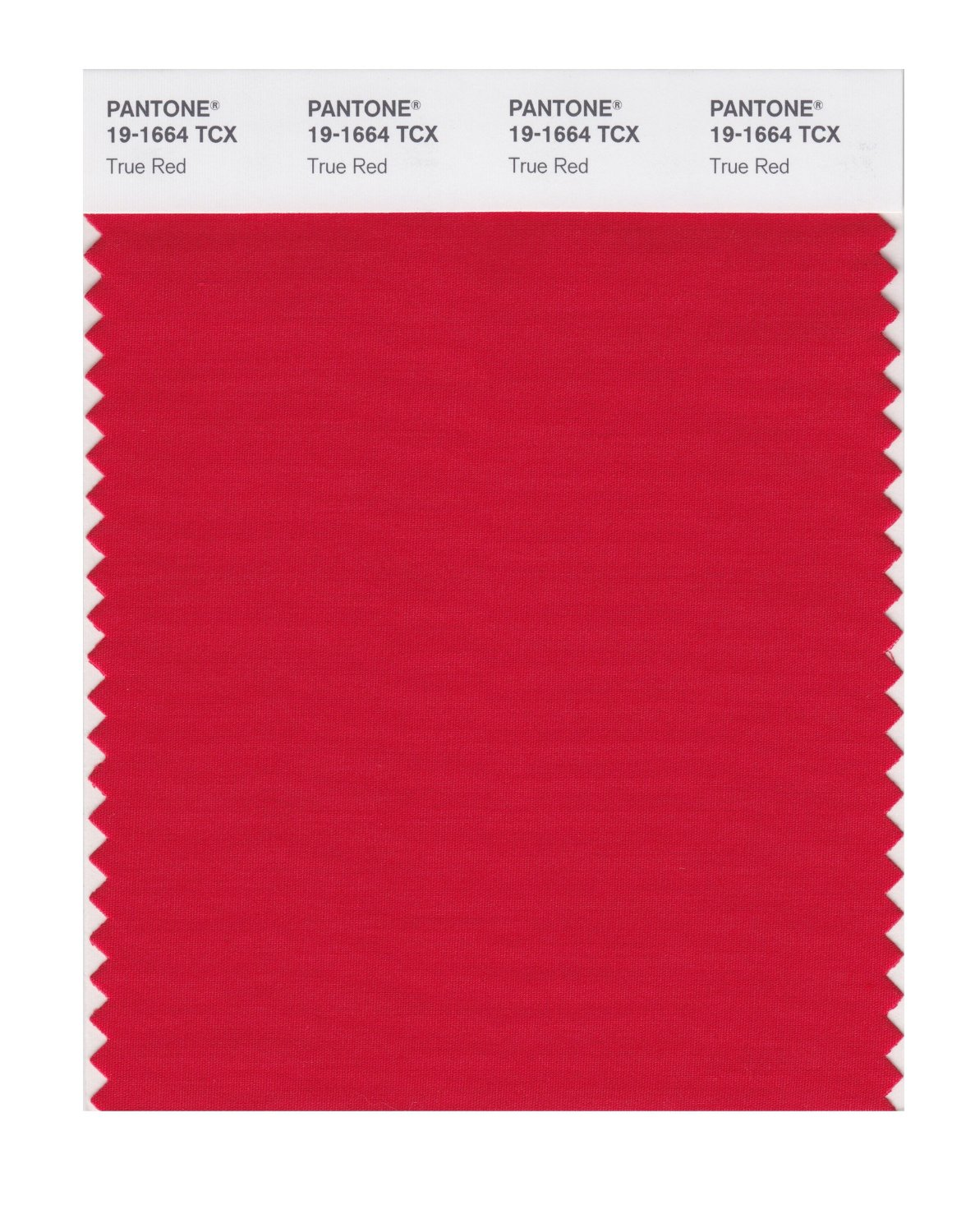 Pantone Smart Swatch 19-1664 True Red