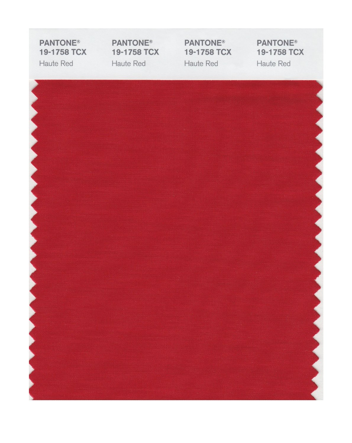 Pantone Smart Swatch 19-1758 Haute Red