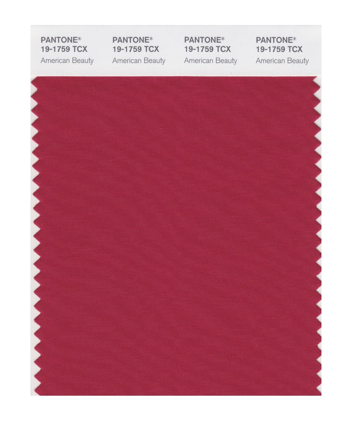 Pantone Smart Swatch 19-1759 American Beauty
