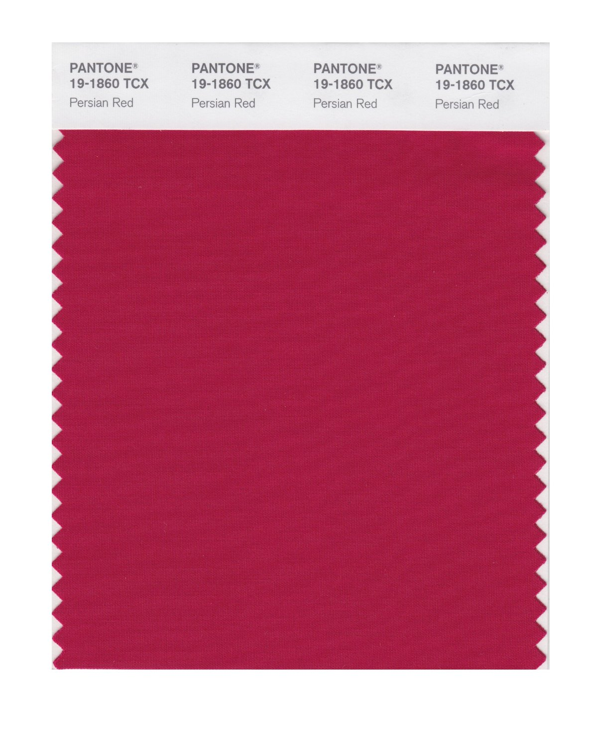 Pantone Smart Swatch 19-1860 Persian Red