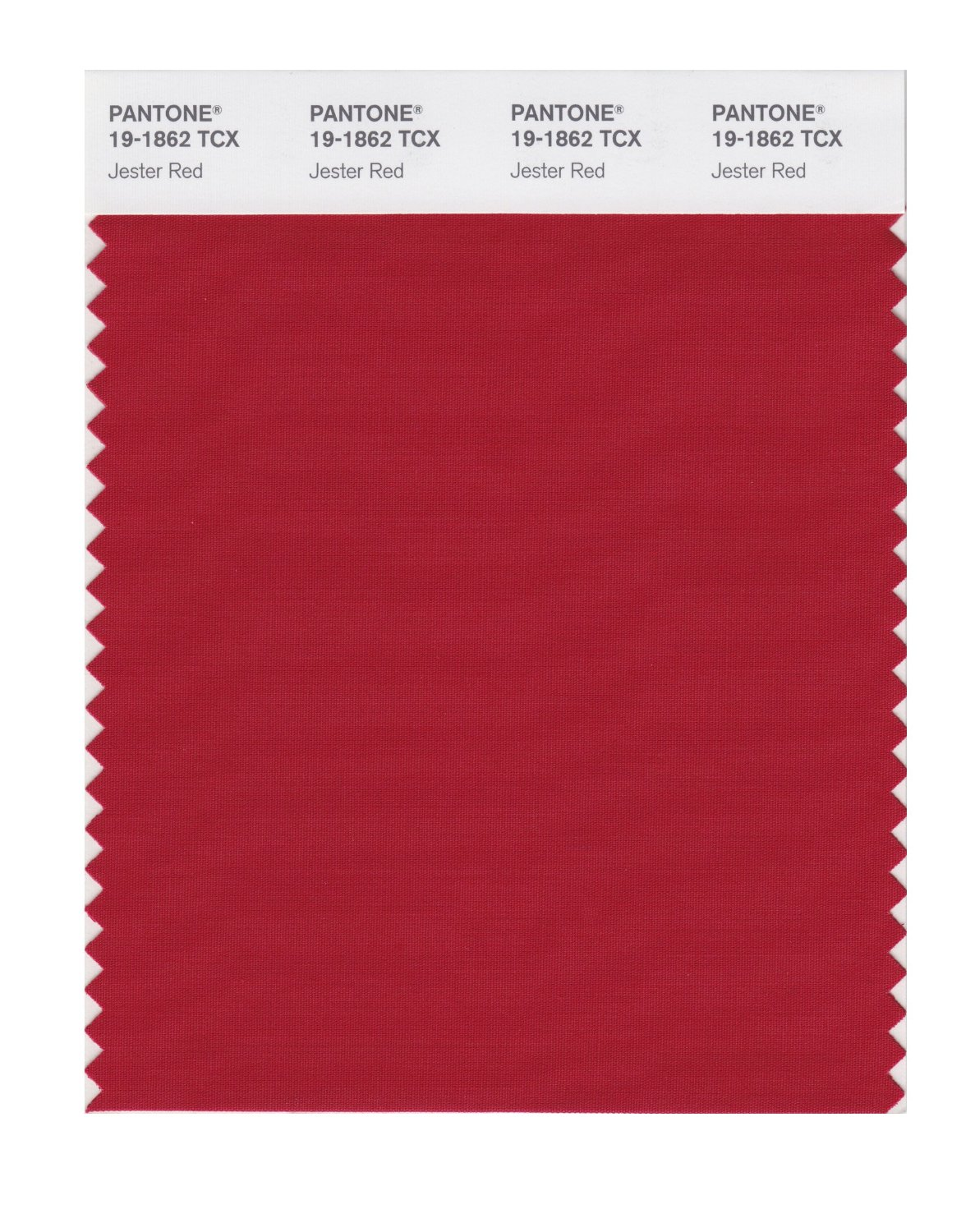 Pantone Smart Swatch 19-1862 Jester Red
