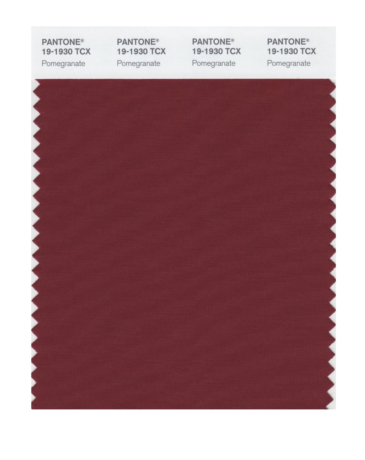 Pantone Smart Swatch 19-1930 Pomegranate