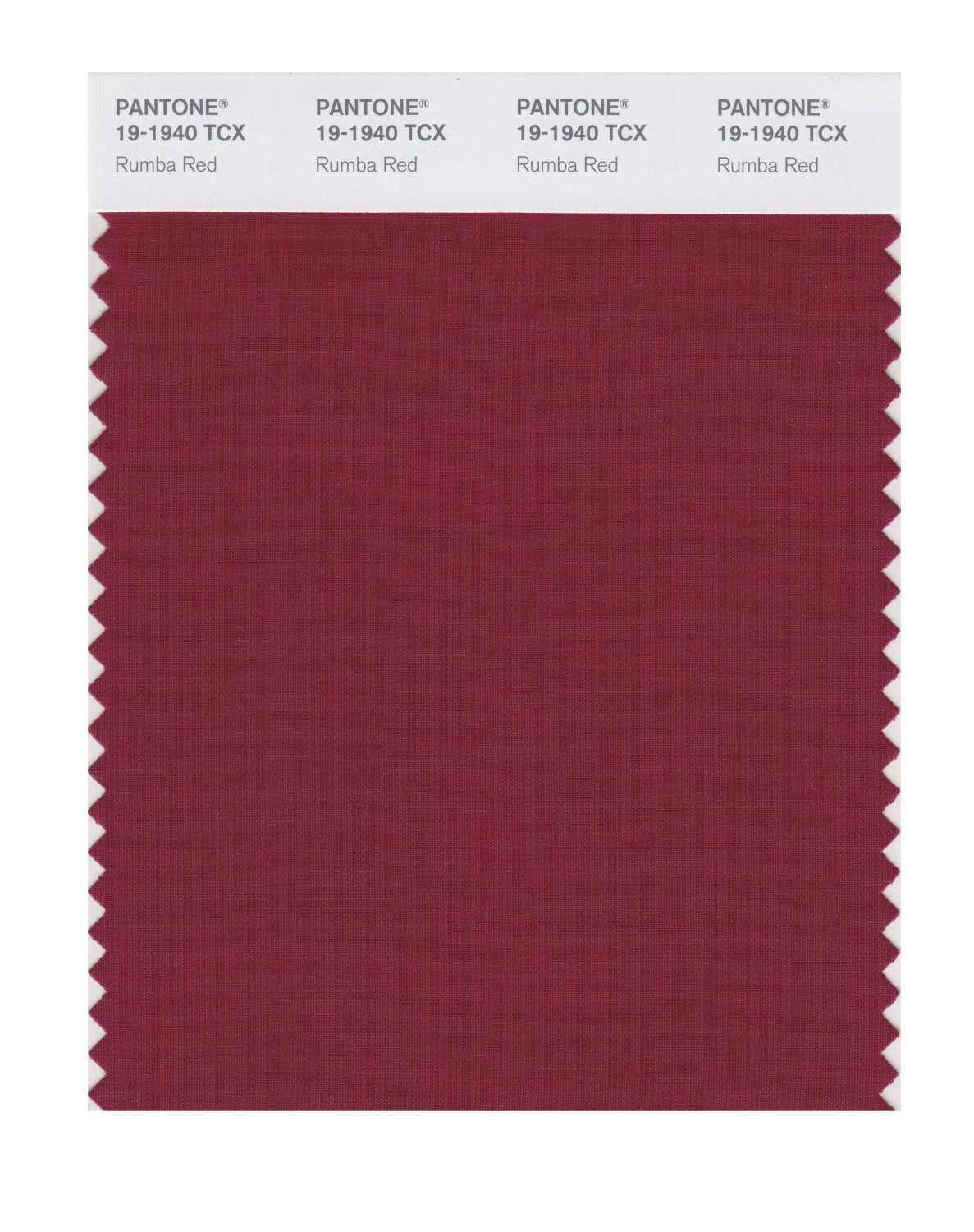 Pantone Smart Swatch 19-1940 Rumba Red