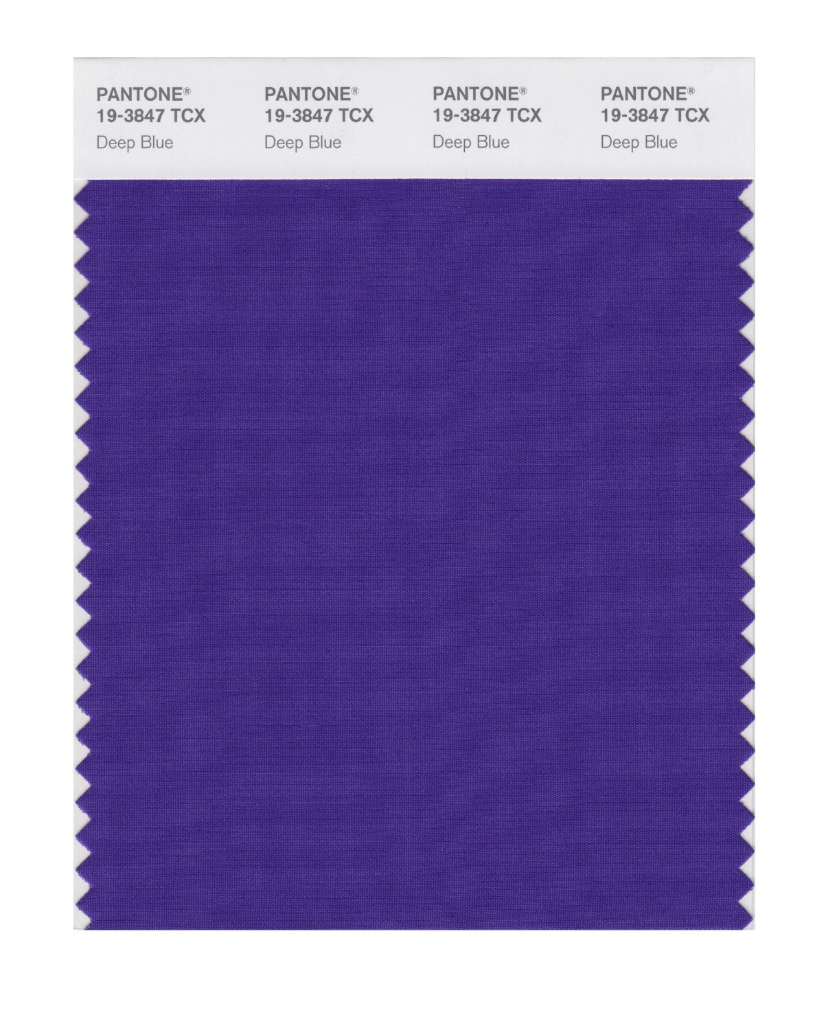 Pantone Smart Swatch 19-3847 Deep Blue