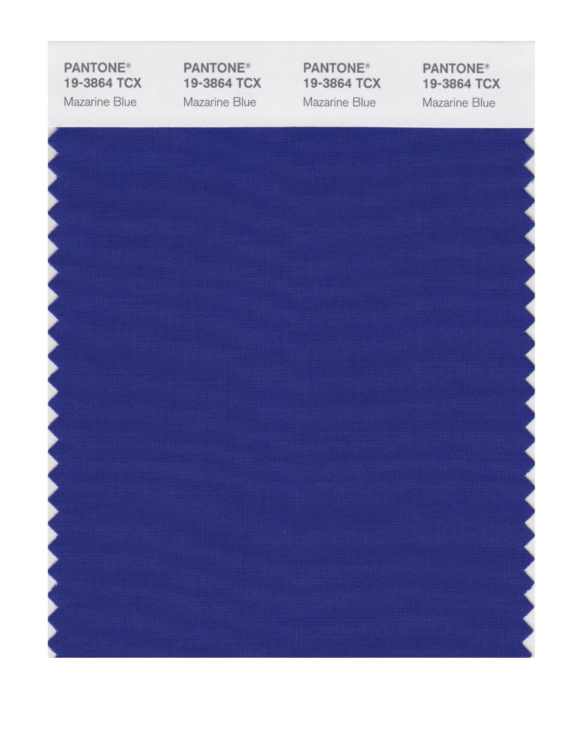 Pantone Smart Swatch 19-3864 Mazarine Blue