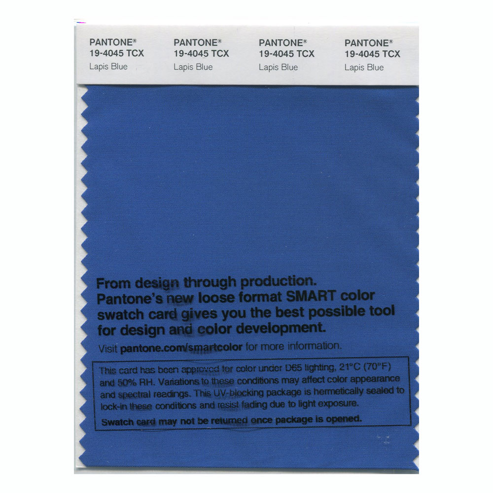 Pantone Smart Swatch 19-4045 Lapis Blue