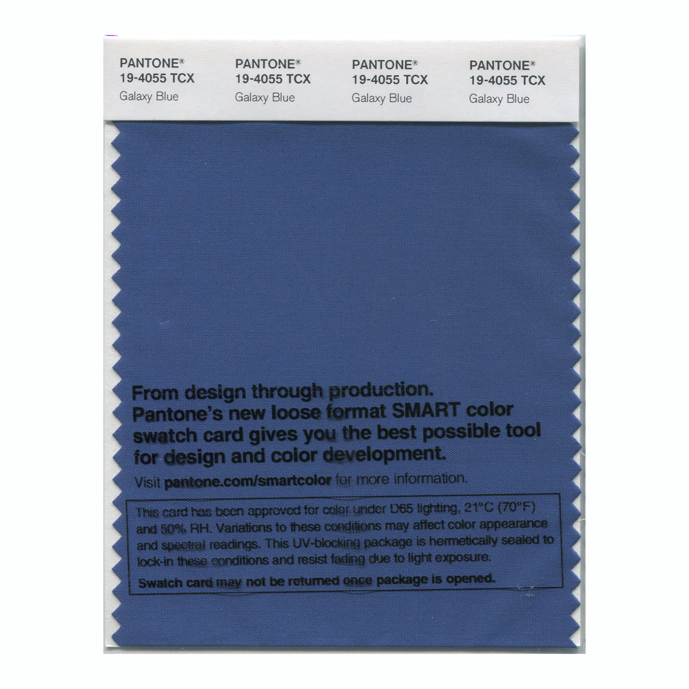 Pantone Smart Swatch 19-4055 Galaxy Blue