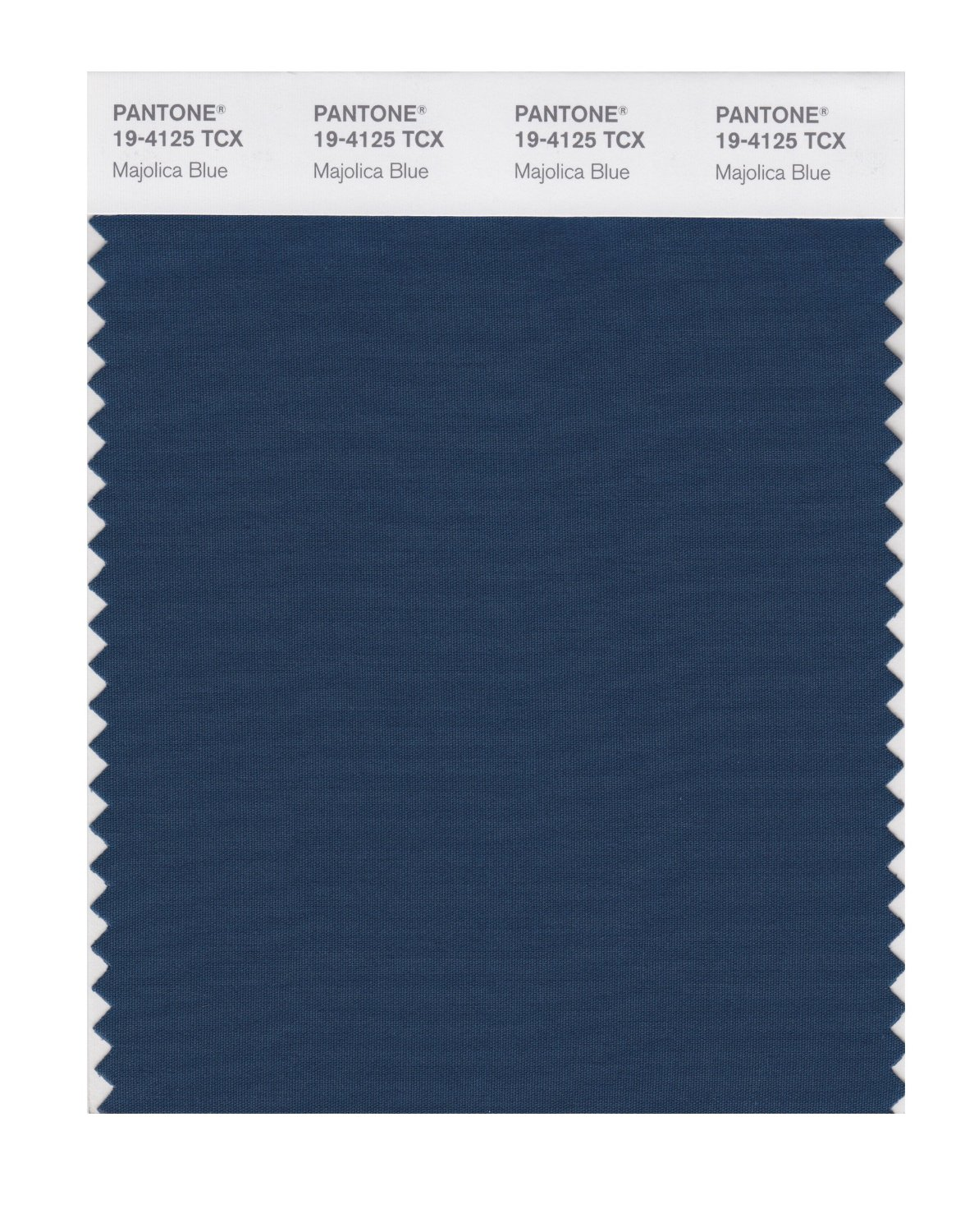 Pantone Smart Swatch 19-4125 Majolica Blue