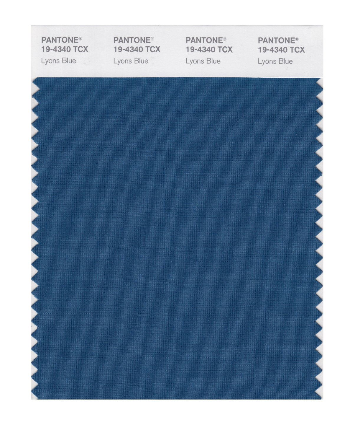 Pantone Smart Swatch 19-4340 Lyons Blue