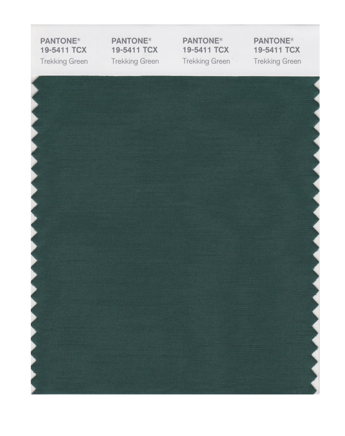 Pantone Smart Swatch 19-5411 Trekking Green
