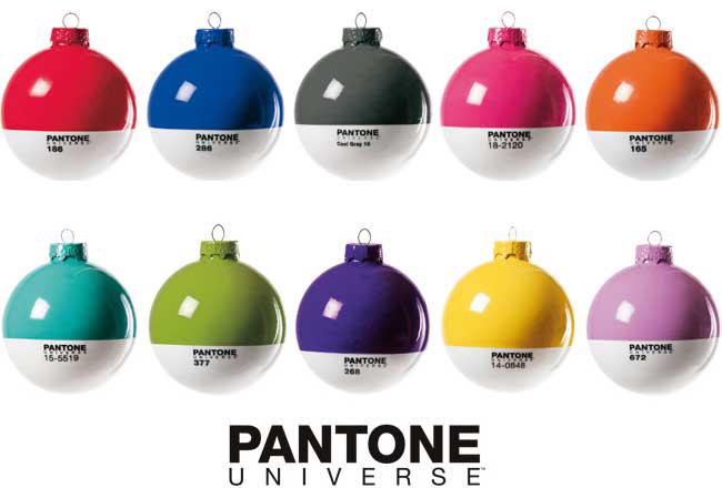 Christmas Tree Ball Colors : Pantone universe christmas ornaments