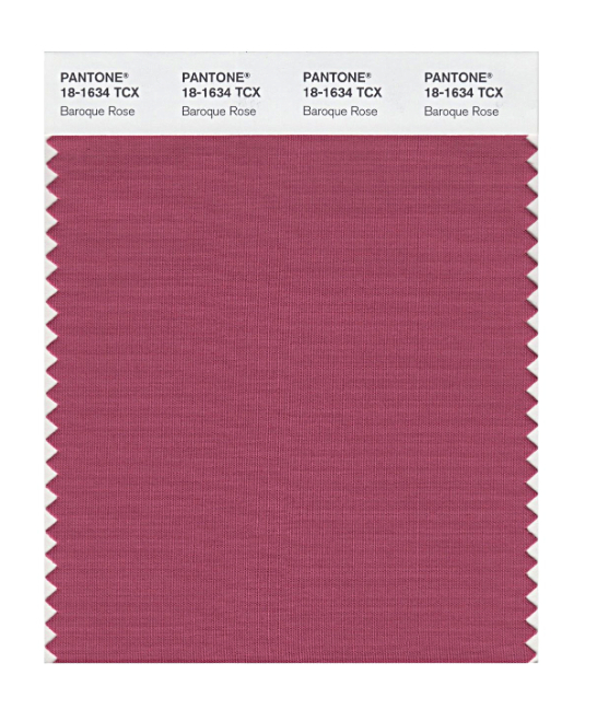 Pantone Original Swatch 18-1634 Baroque Rose