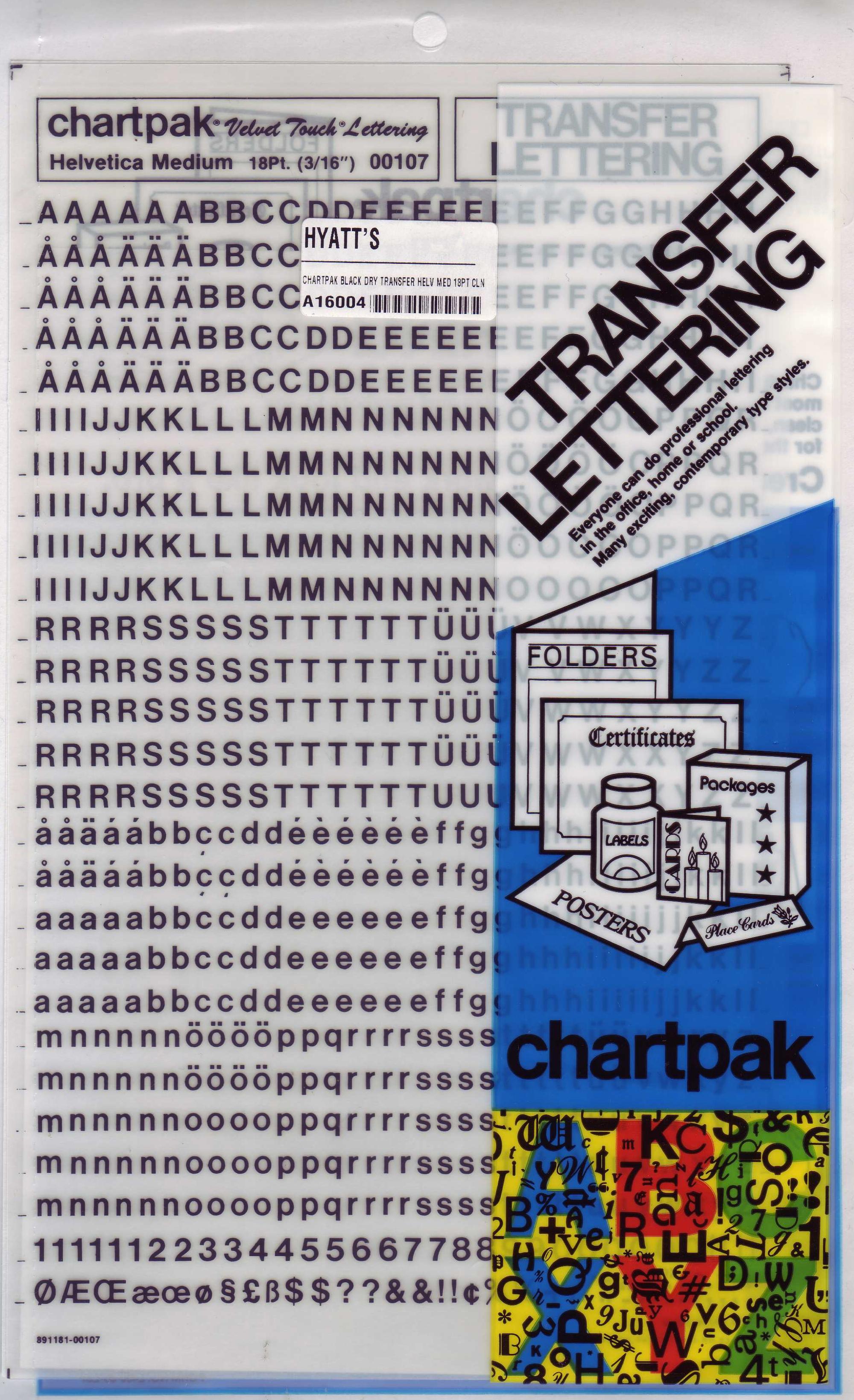 BUY Dry Transfer Letters Black Helvetica 18pt CLN