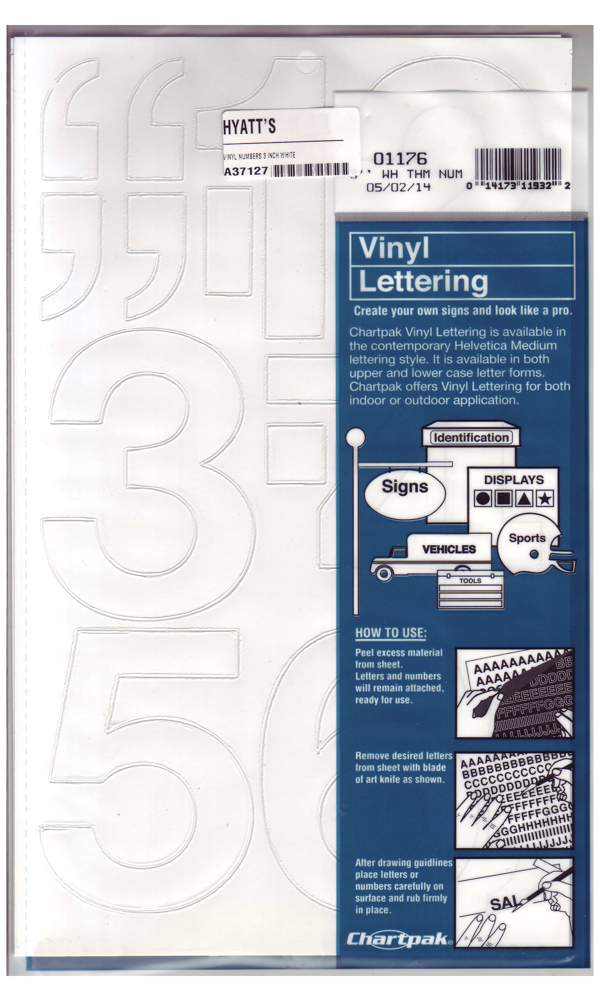 Vinyl Numbers 3 Inch White