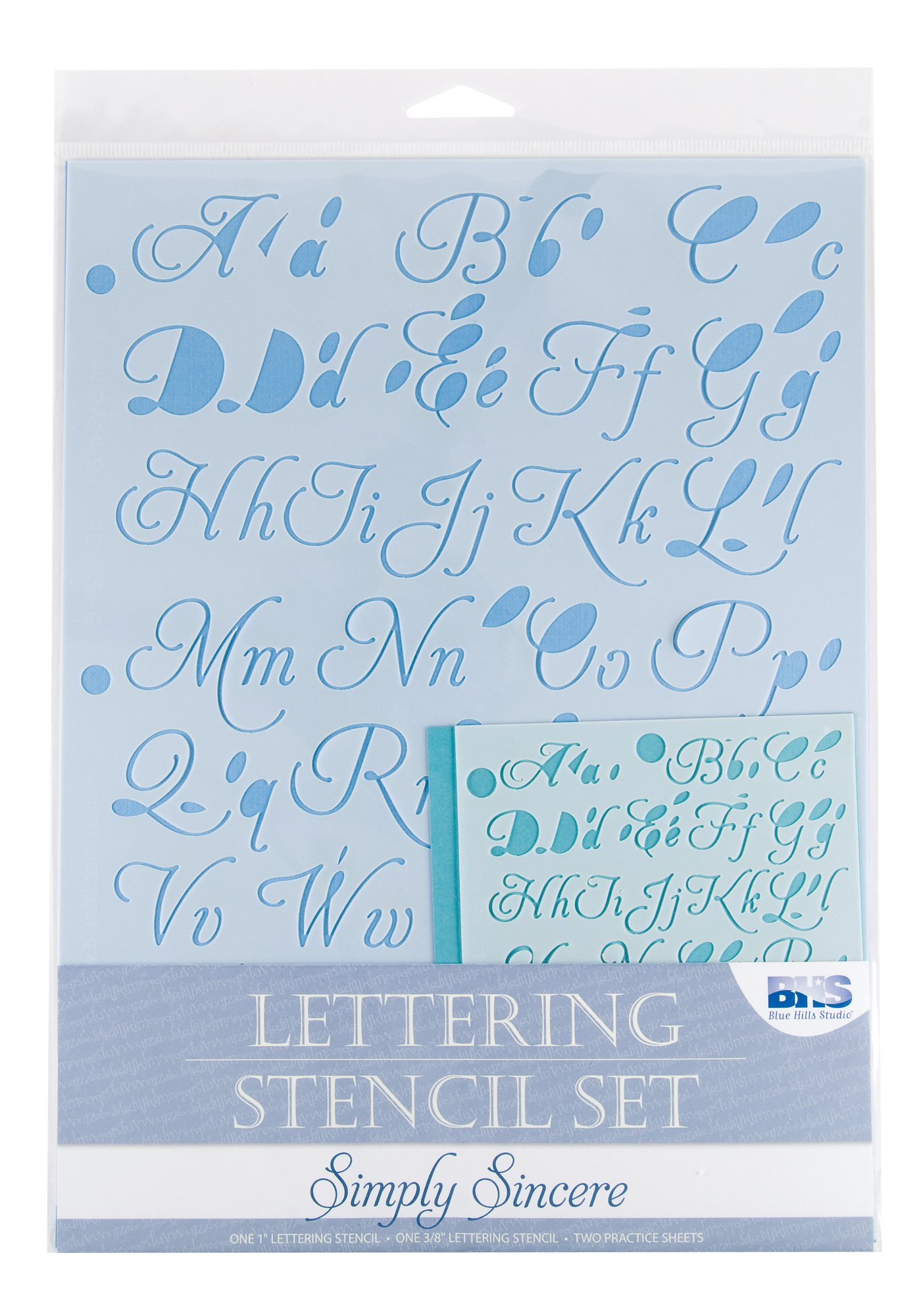 Lettering Stencil Set: Simply Sincere