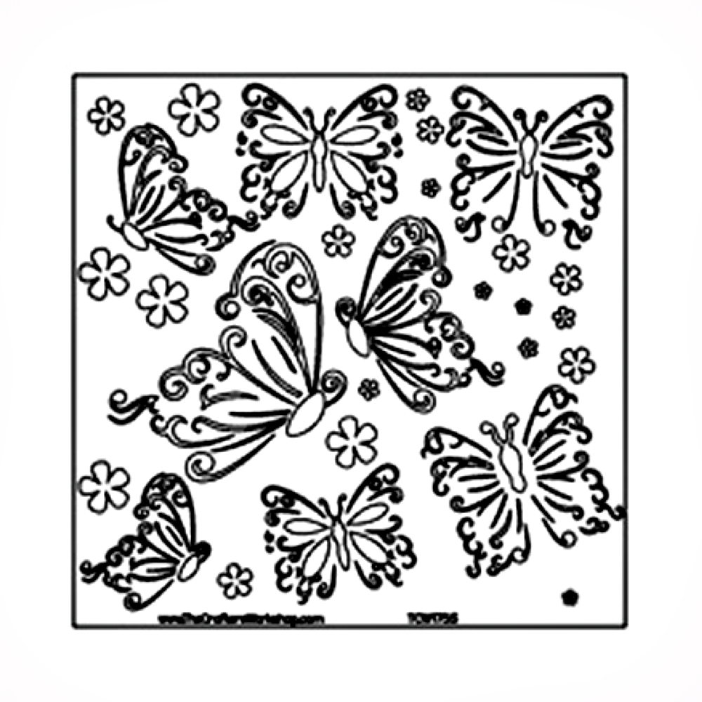Stencil 6in x 6in Butterflies