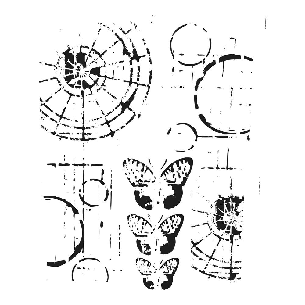 BUY Stencil 6X6 Sugar Skull Bits