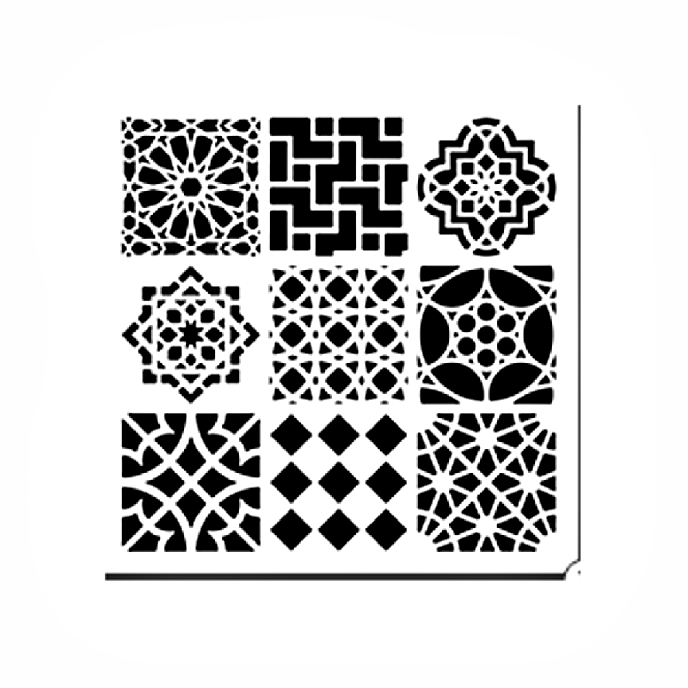 Stencil 12in x 12in Moroccan Tiles
