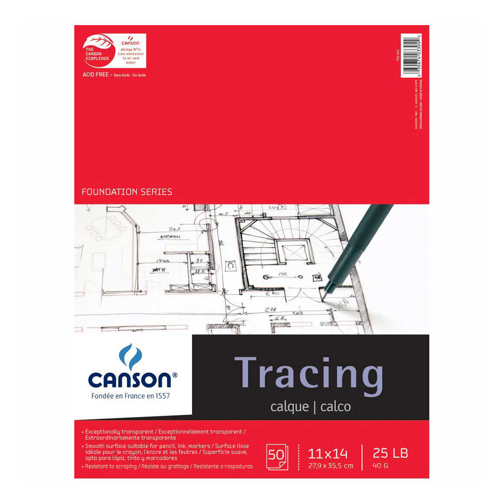 Canson Tracing Pad 50 Sheets 11X14 Inch