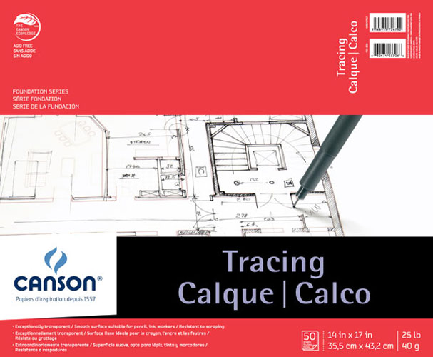 Canson Tracing Pad 50 Sheets 14X17 Inches