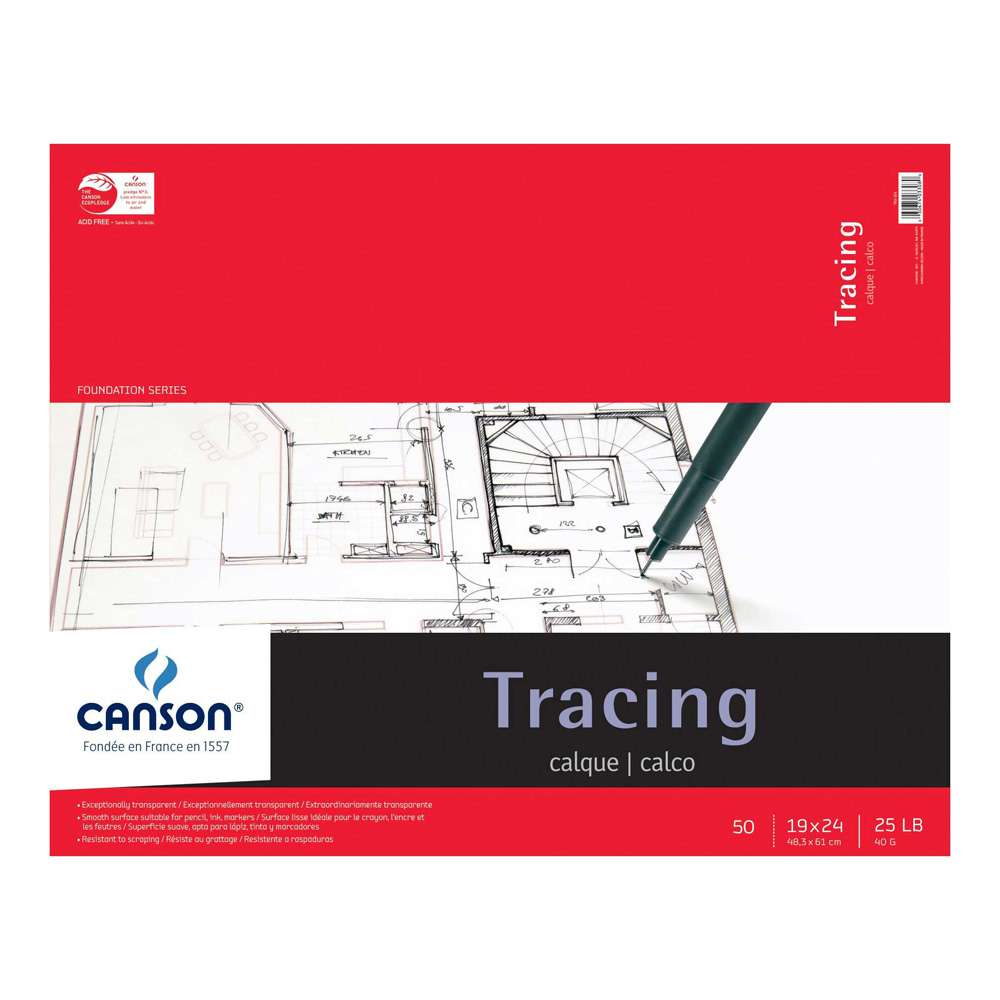 Canson Tracing Pad 50 Sheets 19X24 Inches