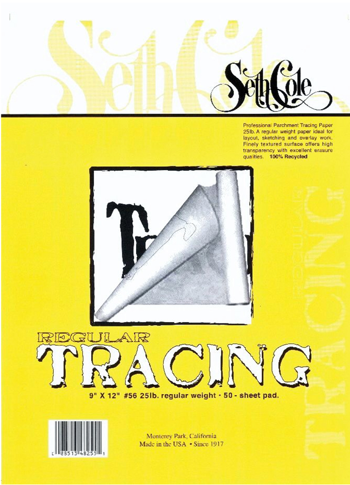 Seth Cole Tracing Paper Pad/50 14X17
