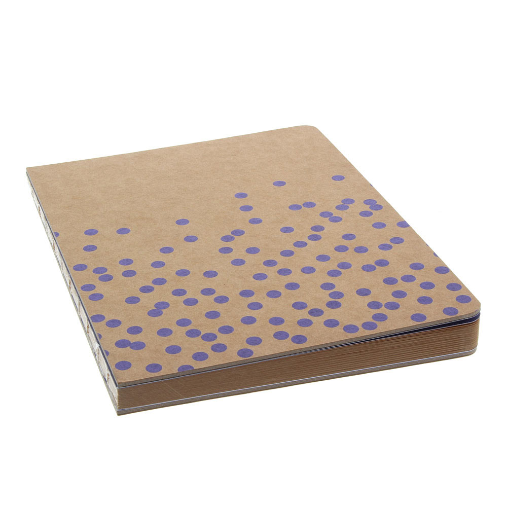 AA Journal Swiss Dot Kraft Violet Lined 6x8