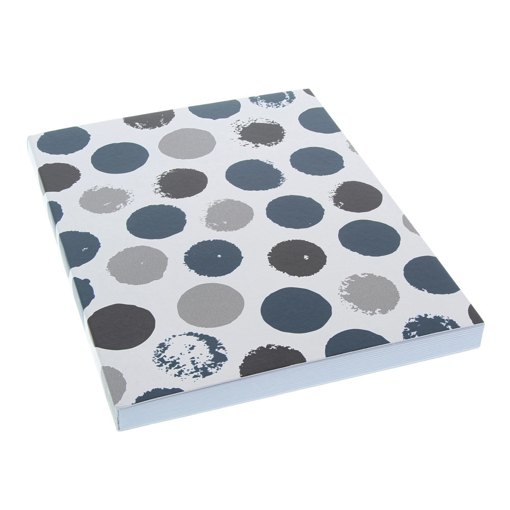 AA Journal Bold Dots Navy Lined 6x8