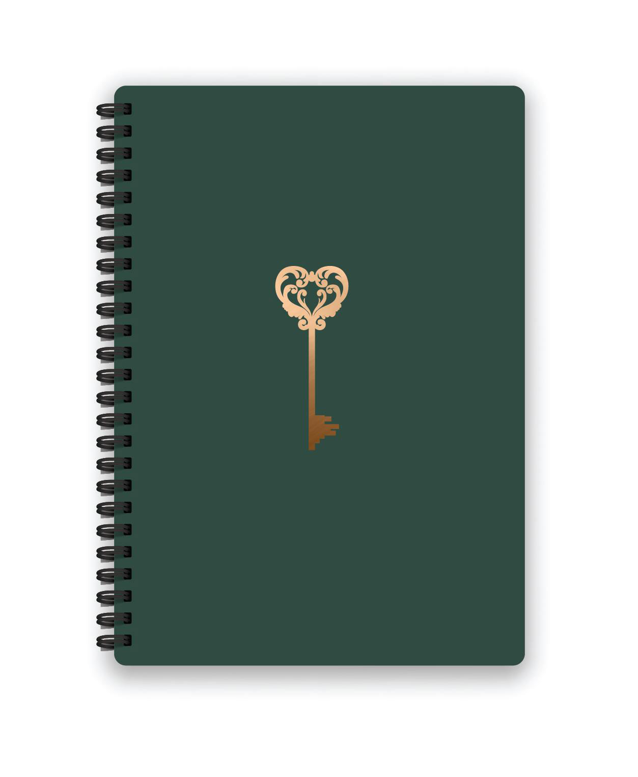 Belvedere Key Notebook 7X9.5 Inch