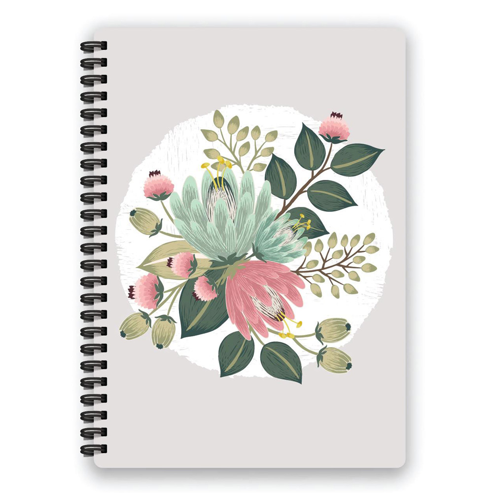 Belvedere Flower Bouquet Notebook 7X9.5 In