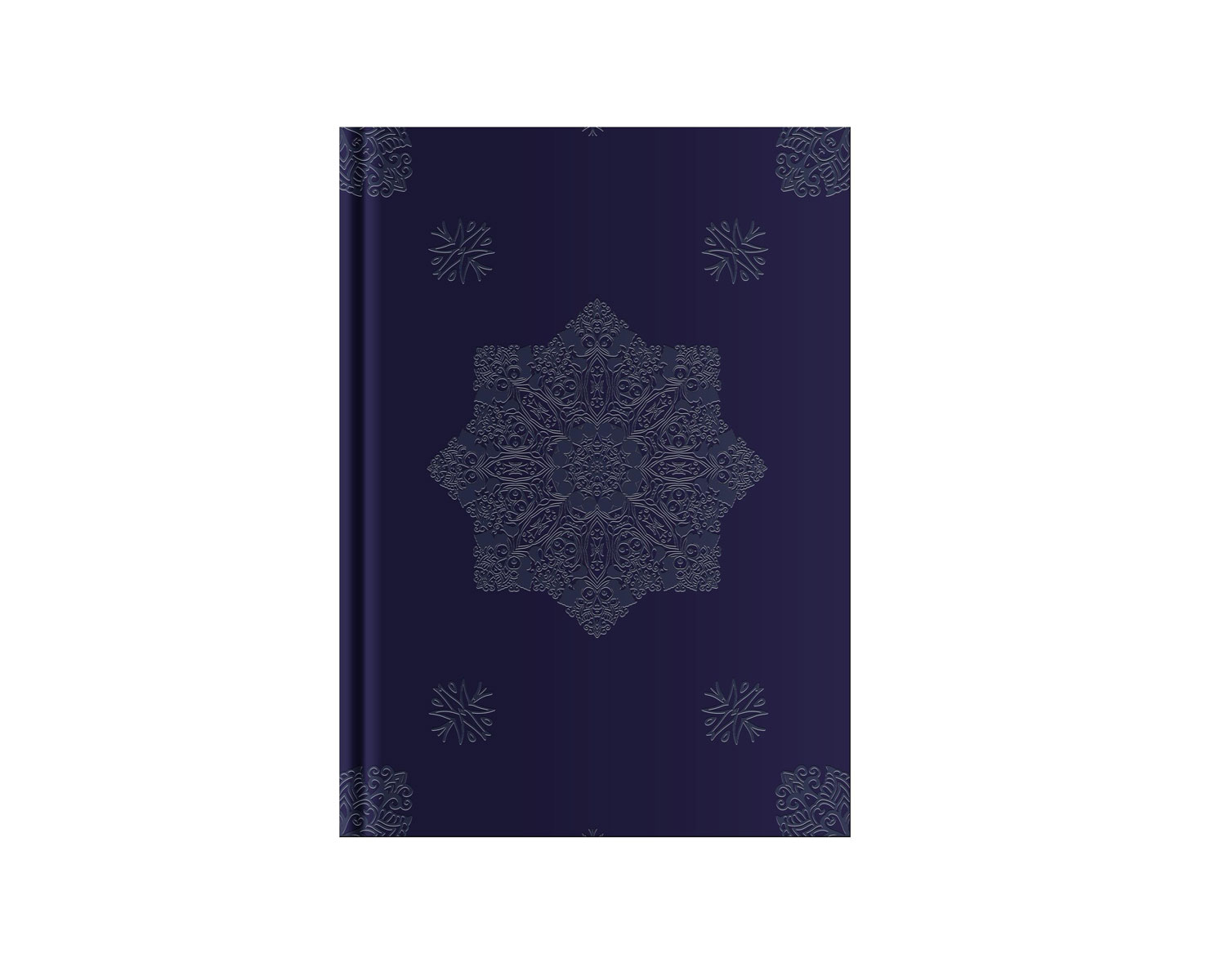 Belvedere Navy Notebook 6X8.25 Inch