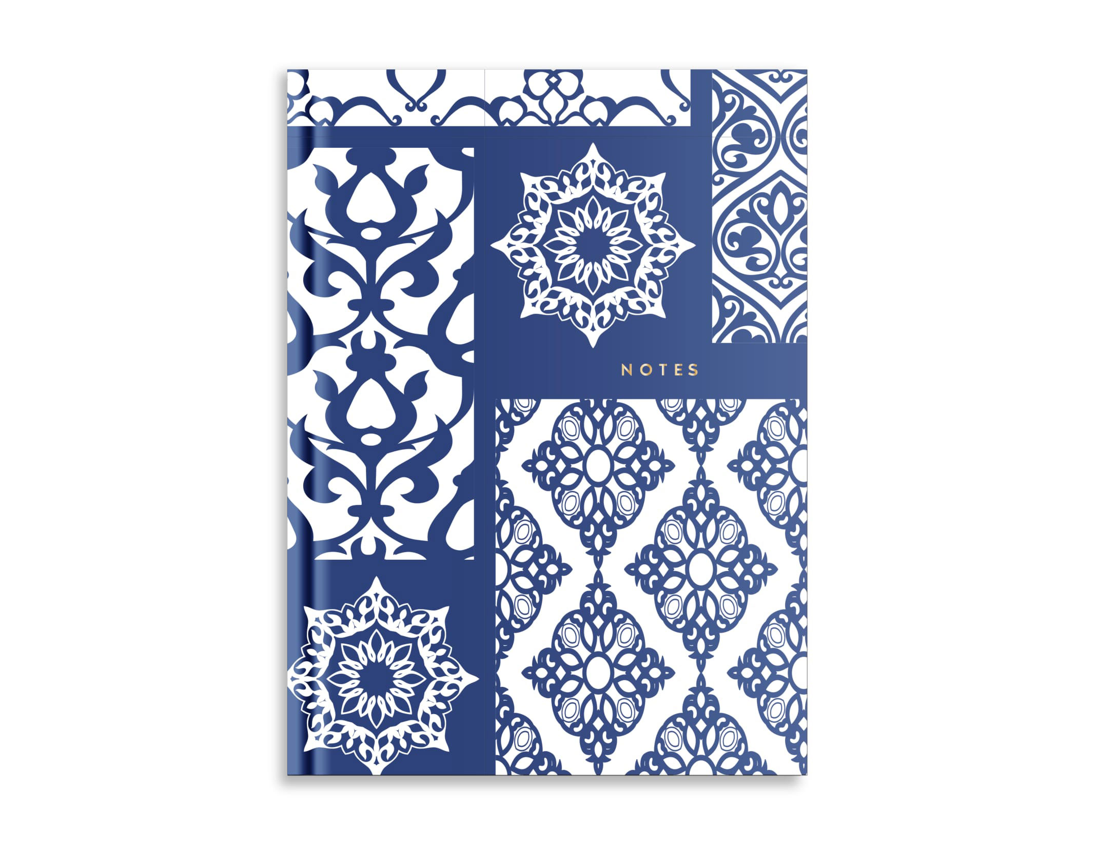 Belvedere Blue Pattern Notebook 7X9.5 Inch
