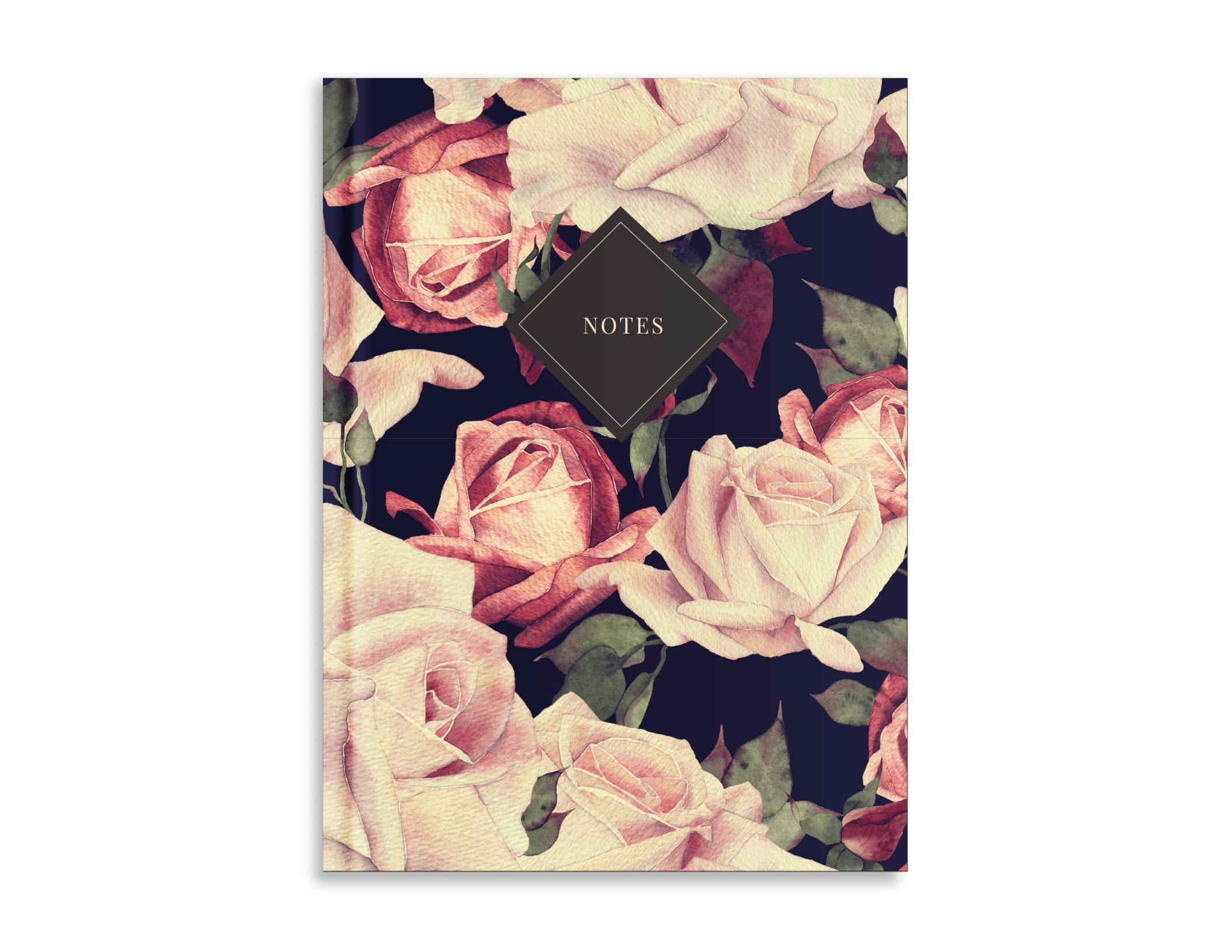 Belvedere Roses Notebook 7X9.5 Inch