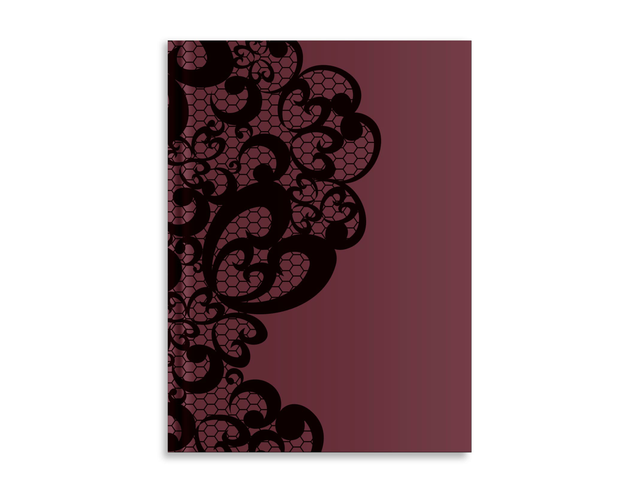 Belvedere Lace Burgandy Notebook 7X9.5 Inch