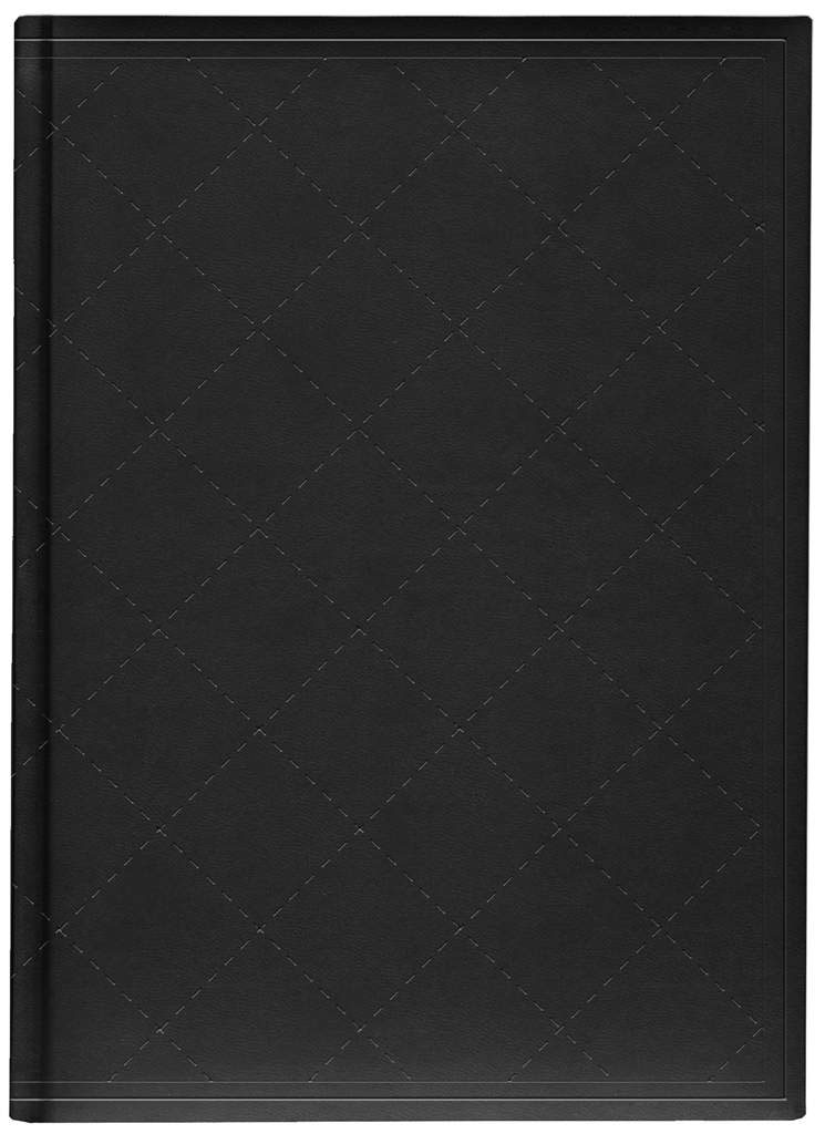 Belvedere Quilted Black Notebook 7X9.5 Inch