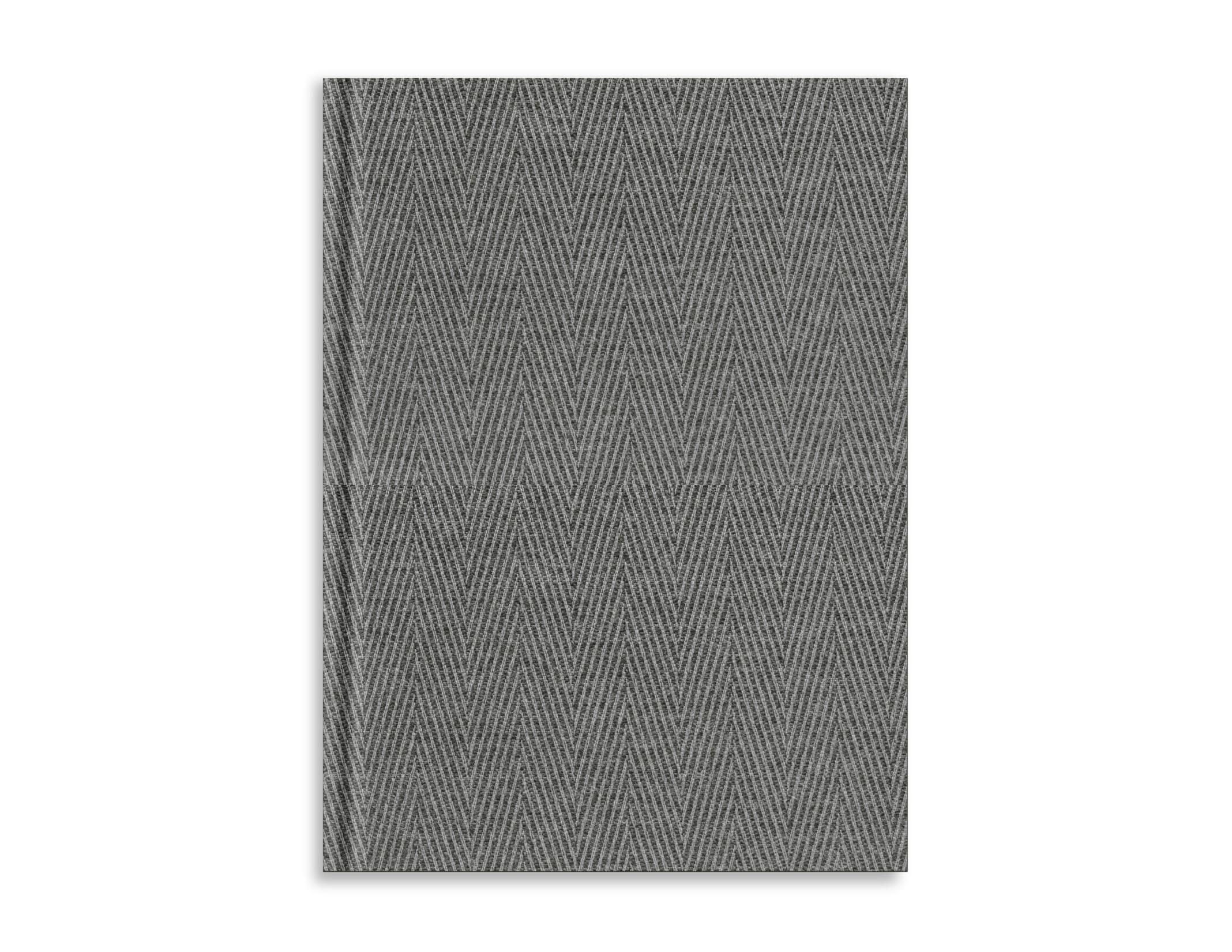 Belvedere Chevron Grey Notebook 7X9.5 Inch