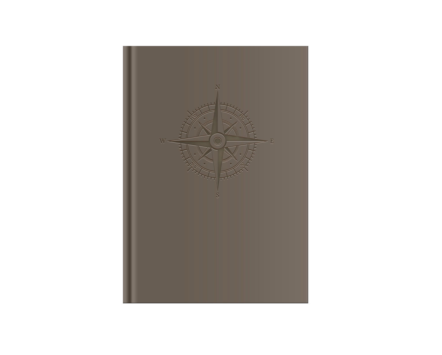Belvedere Compass Taupe Notebook 6X8.25 In