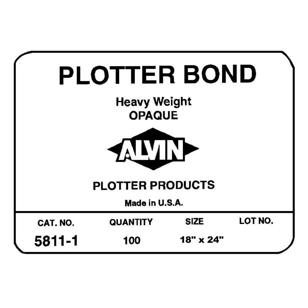 Hvywt Opaque Plotter Bond 100 Sheets 18X24