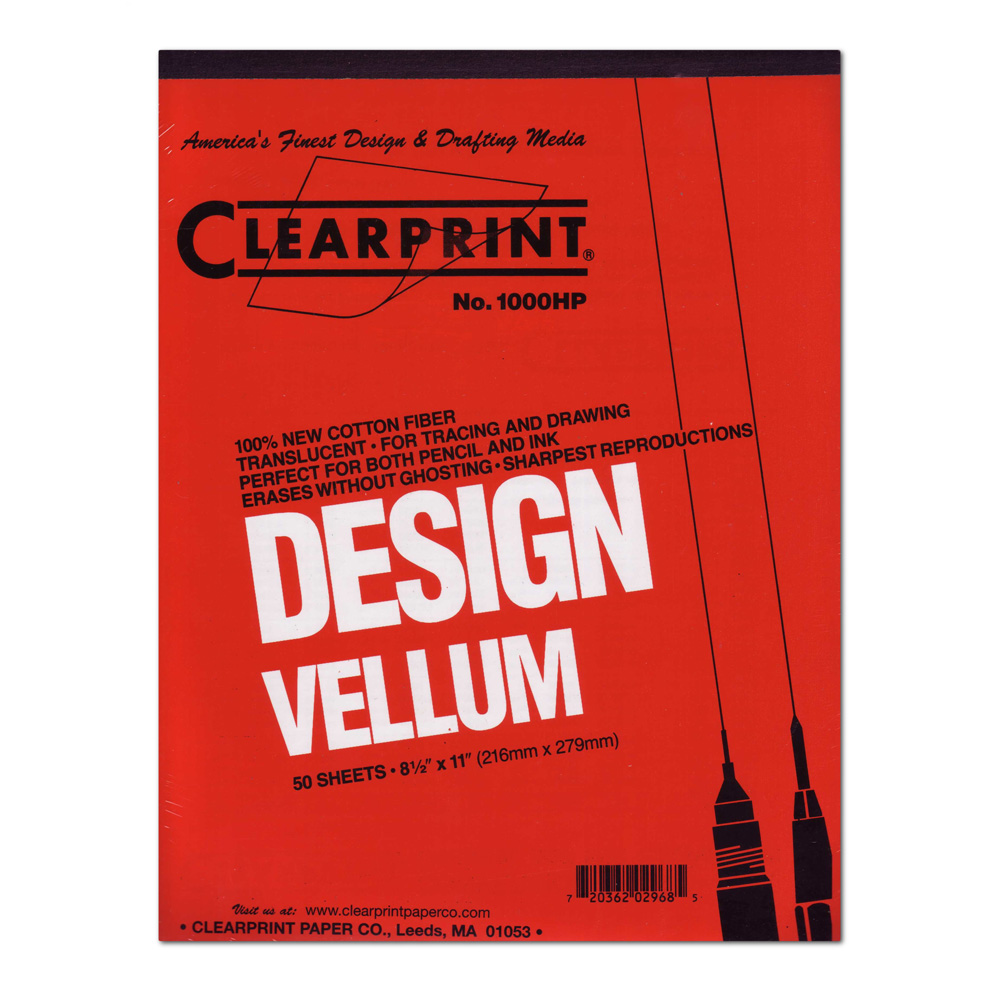Clearprint Vellum 1000Hp 8.5X11 Pad/50