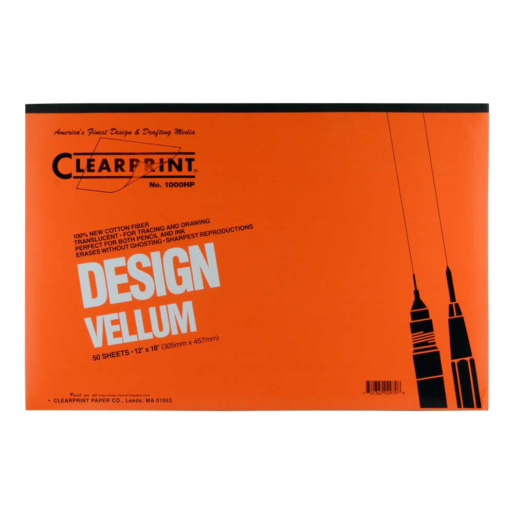 Clearprint Vellum 1000Hp 12X18 Pad/50