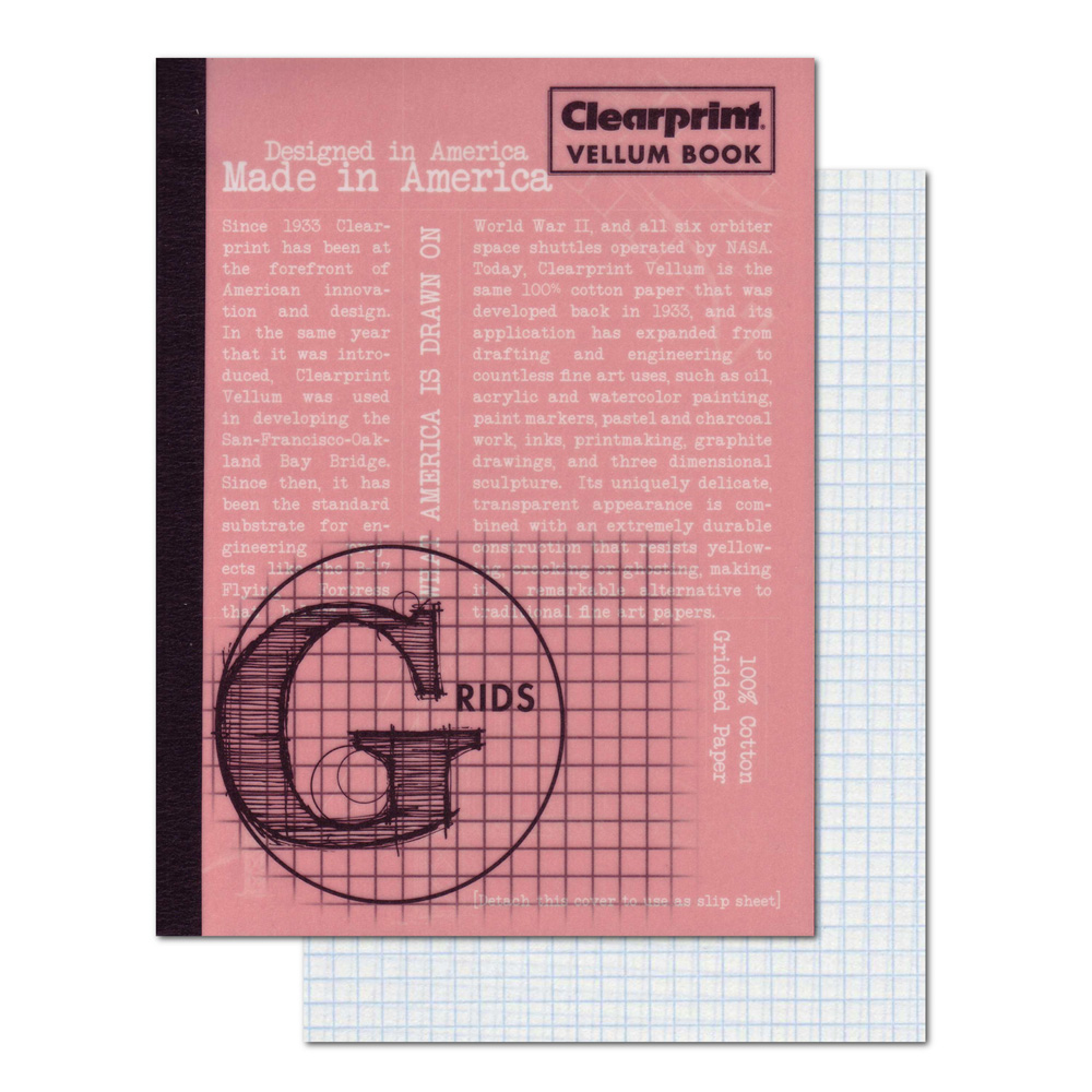 Clearprint Vellum Book 6X8 Gridded