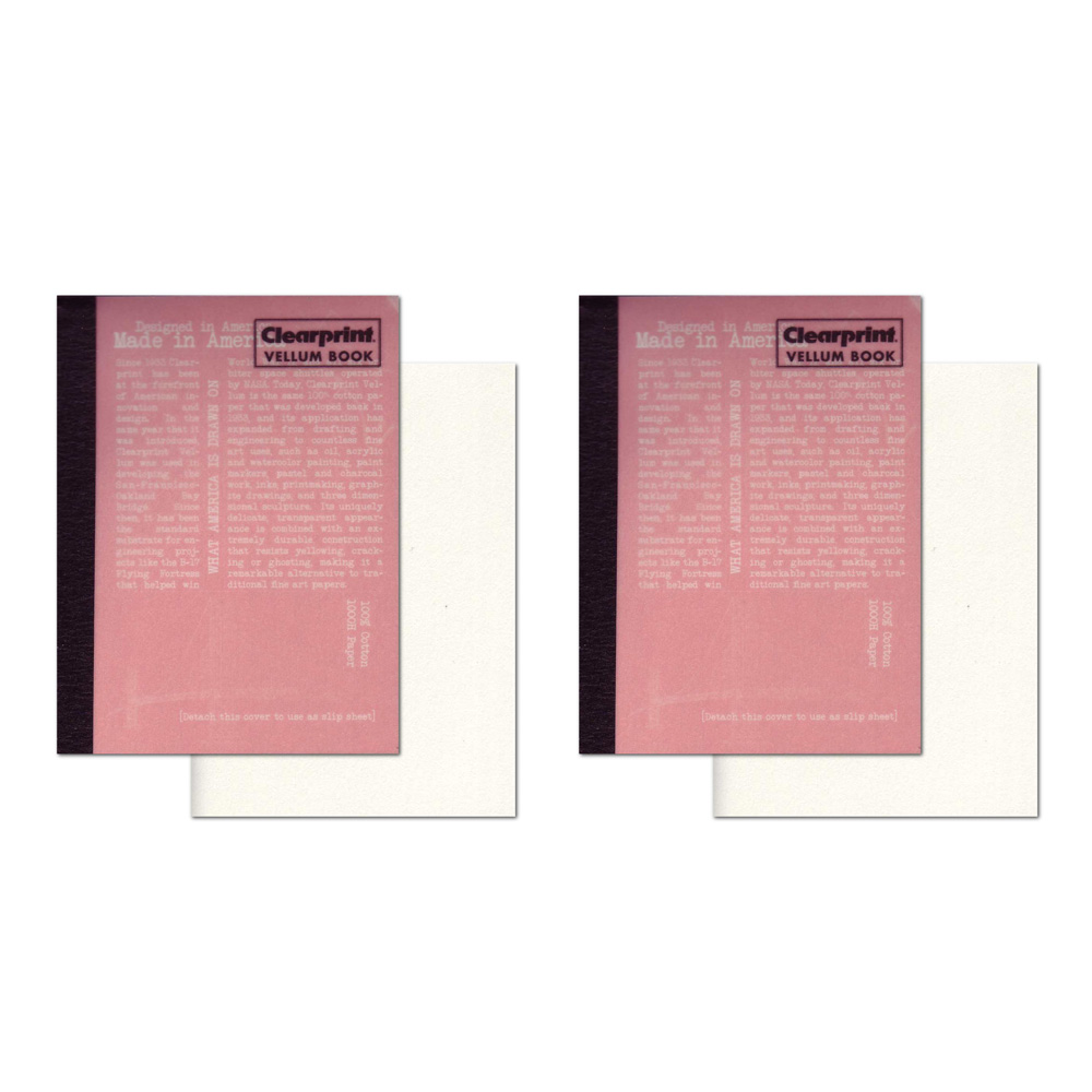 Clearprint Vellum Book 4X6 2Pk
