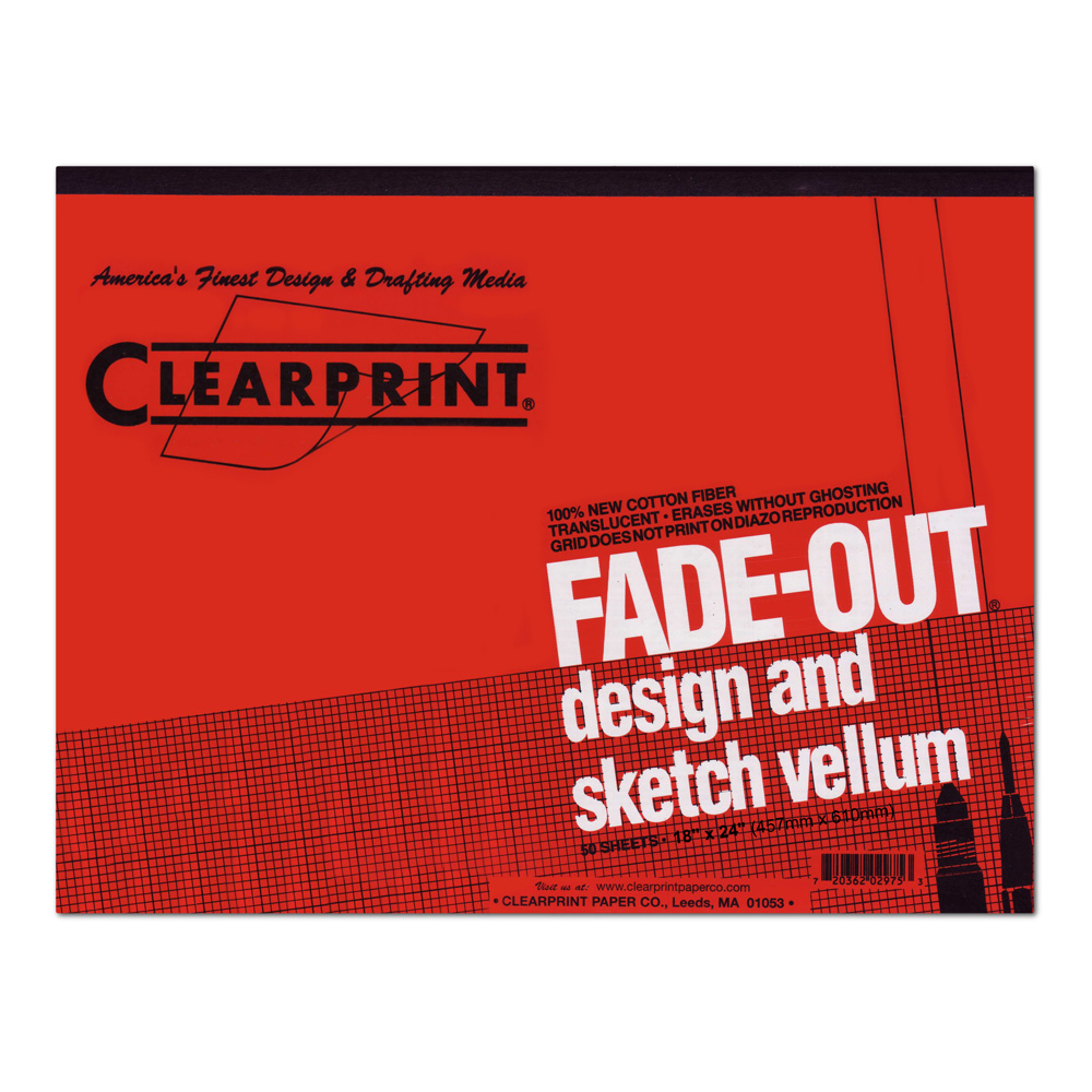 Clearprint Vellum 1000Hp 18X24 Pad 8X8