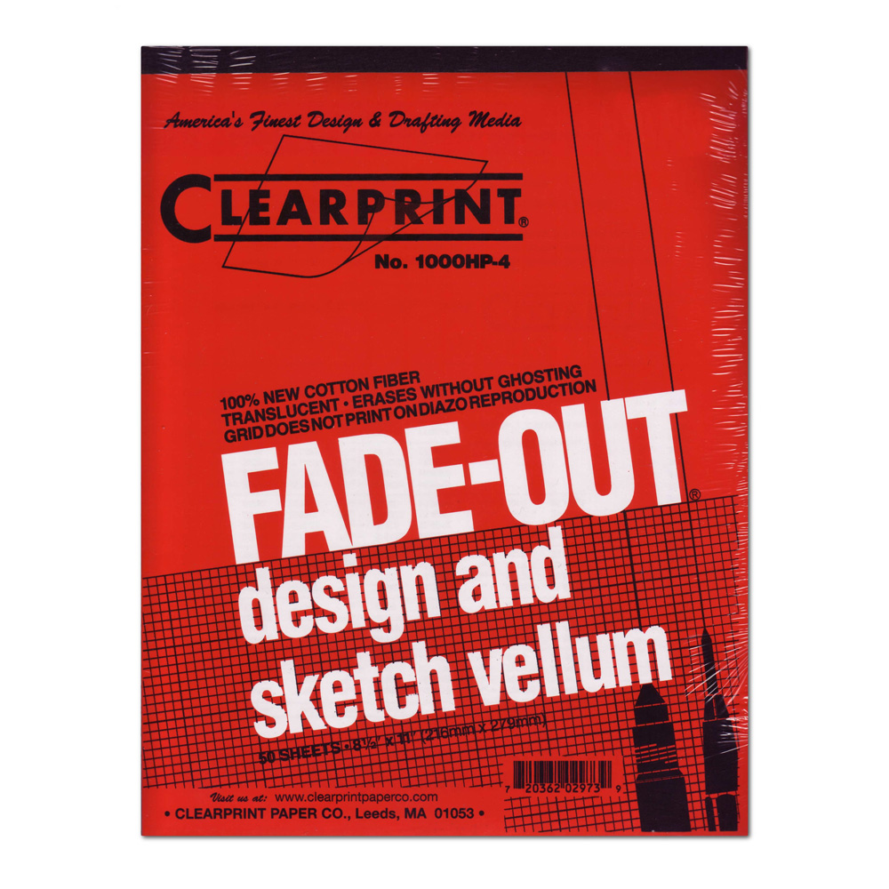 Clearprint Vellum 1000Hp 8.5X11 Pad 4X4