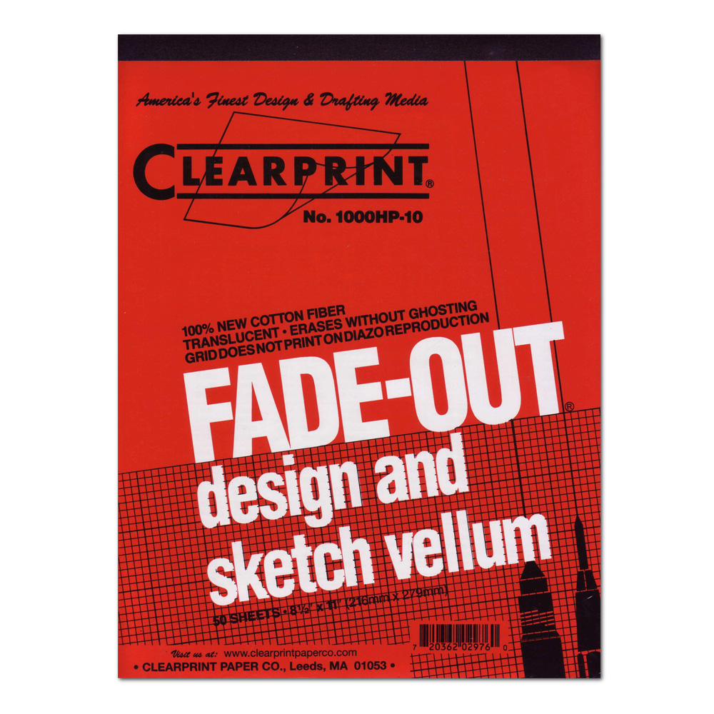 Clearprint Vellum 1000Hp 8.5X11 Pad 10X10