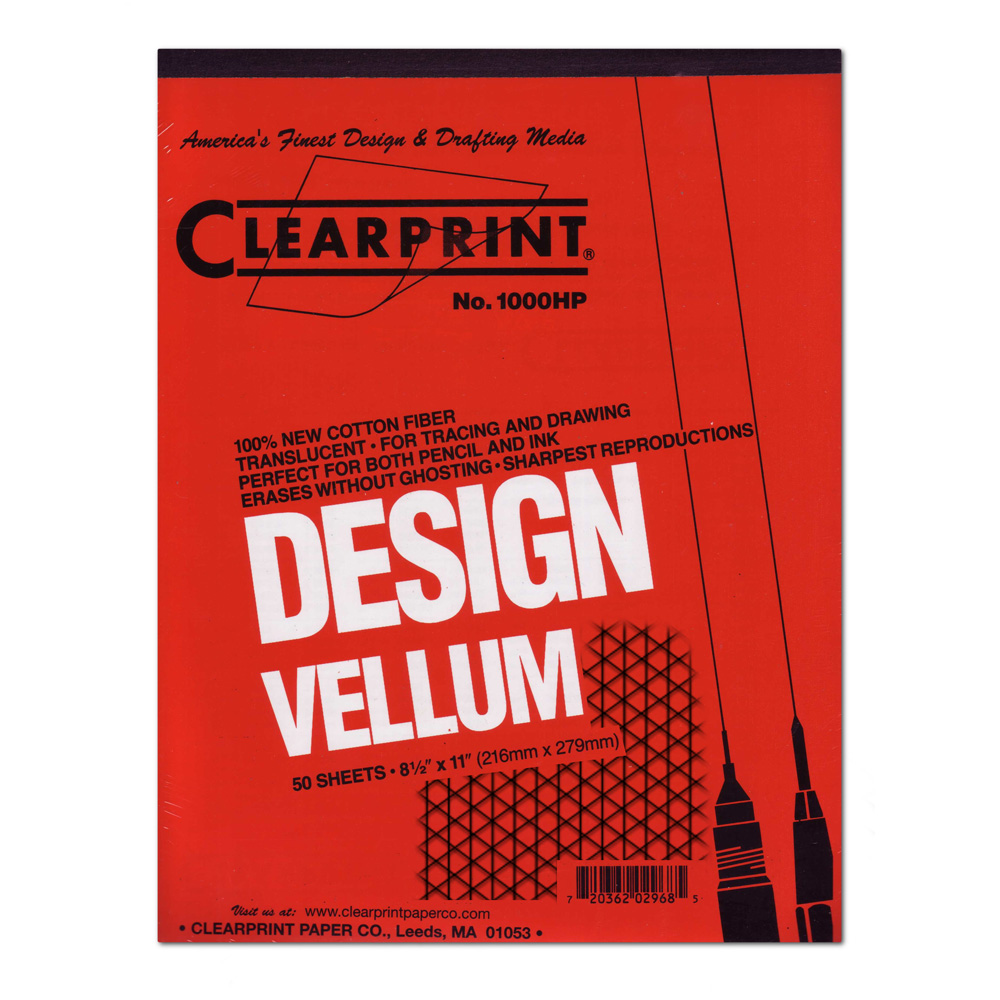 Clearprint Vellum 1000Hp 8.5X11 Pad Iso Grid