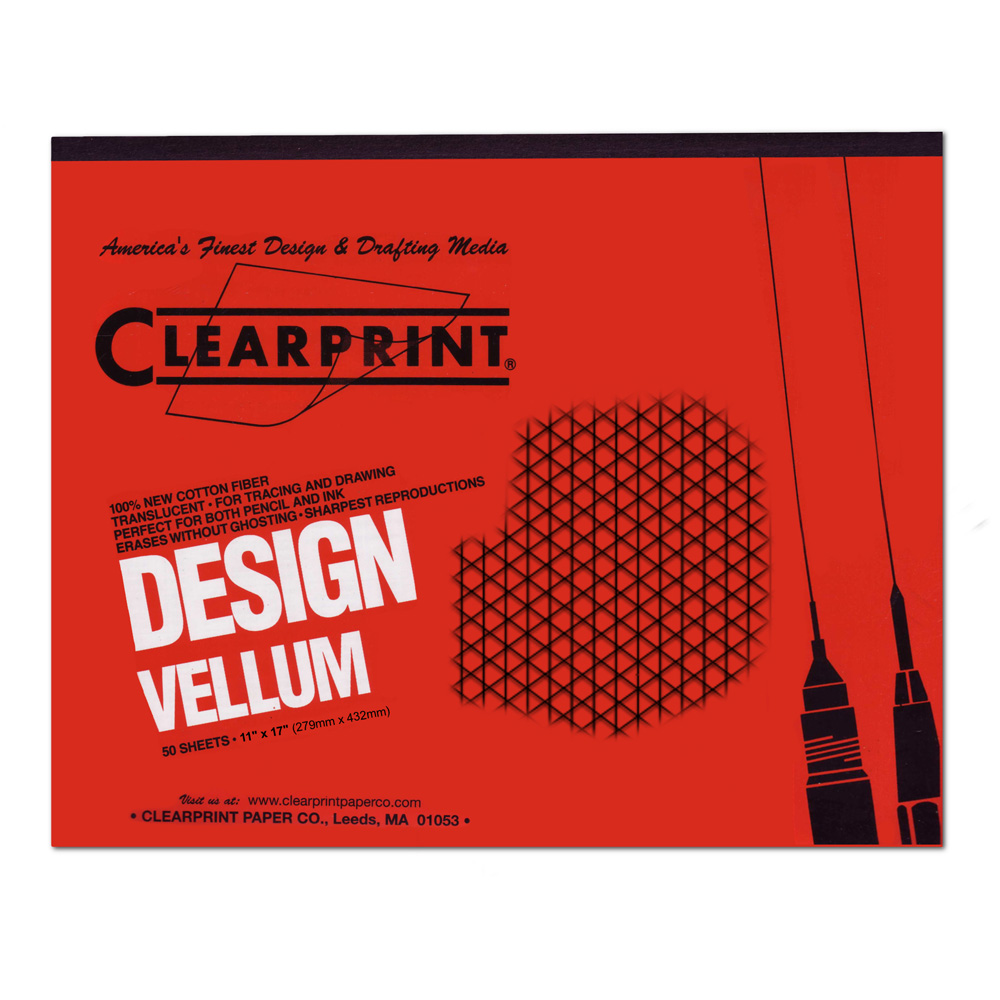 Clearprint Vellum 1000Hp 11X17 Pad Iso Grid